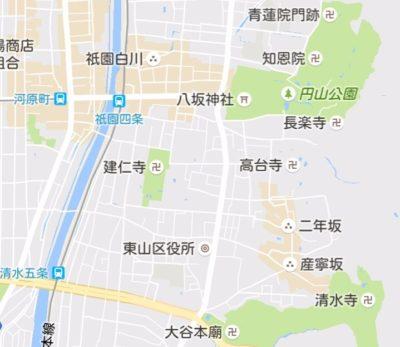 八坂神社の地図
