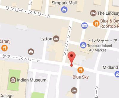 サダルストリートの地図