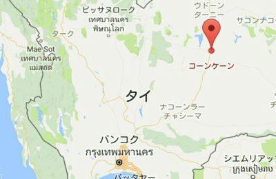 コーンケーンの地図