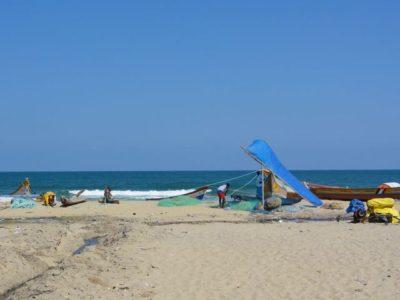 ビーチとカヌー
