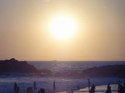 夕日 ビーチ