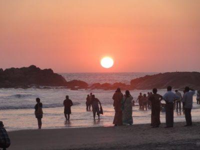 夕日 コヴァーラムビーチ