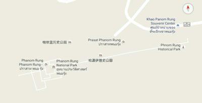 パノムルン遺跡公園の地図