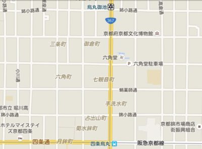 六角堂の地図