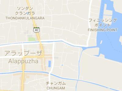 アラプーザの地図