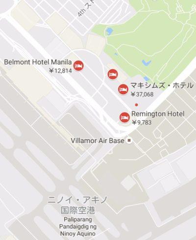 マニラ空港のターミナル3地図