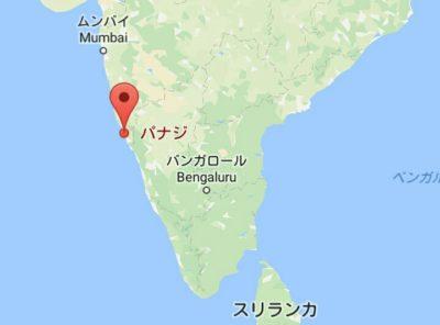 パナジの地図