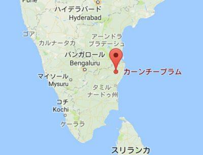 カーンチープラムの地図