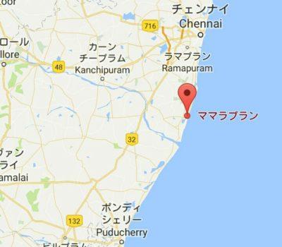 マハーバリプラムの地図