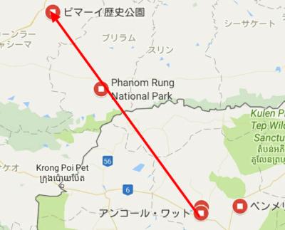 アンコール遺跡の地図