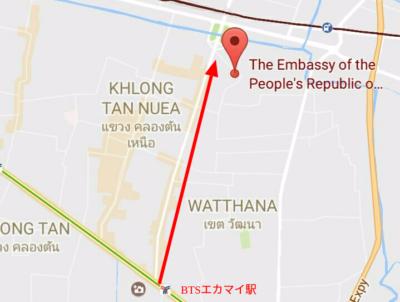 エカマイ駅の地図