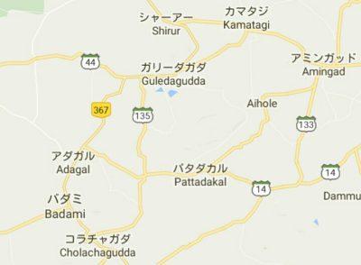パッタダカルの地図