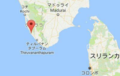 コヴァーラムビーチの地図