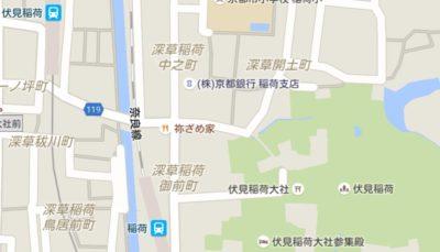 伏見稲荷大社 地図
