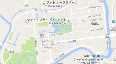 アユタヤの地図