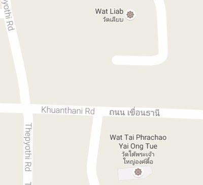 タイプラチャオヤイオントゥエ寺院の地図