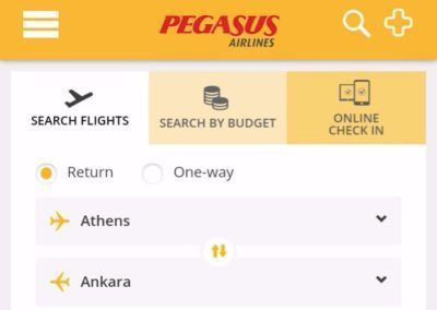 website-of-pegasus-airlines