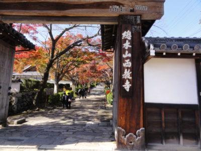 西教寺の門
