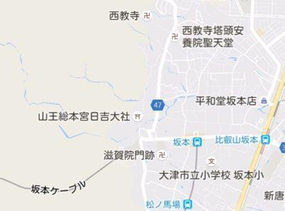西教寺の地図