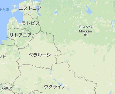 ロシアとヨーロッパの地図
