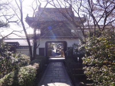 山門の後側