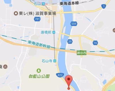 石山寺の地図