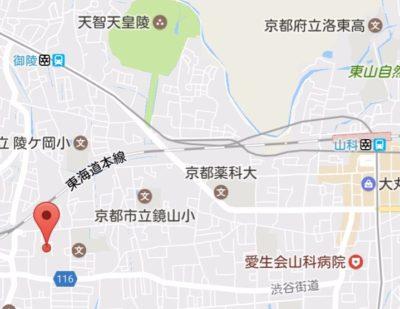 山科区の地図