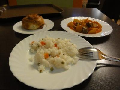 ロシア料理の昼食