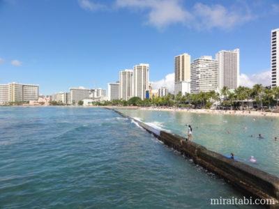 ワイキキビーチとホテル