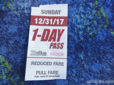 バスの1日券