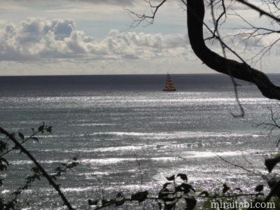 ダイアモンドヘッドビーチパークからの眺め