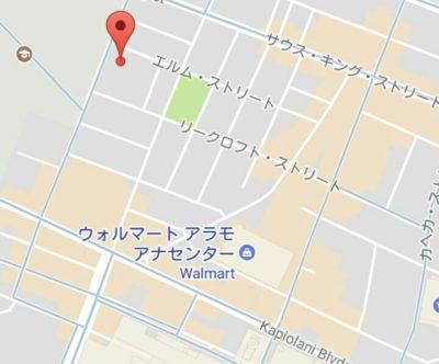 マキキ教会の地図