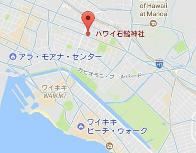 ハワイ石鎚神社の地図