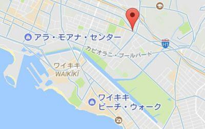 ハワイ厳島神社の地図