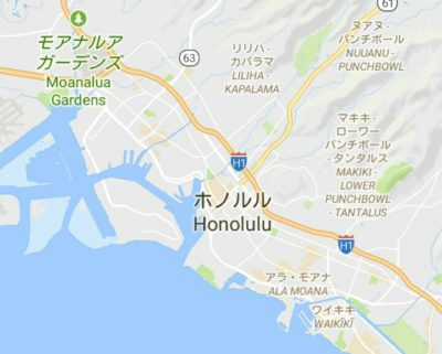 モアナルアガーデンの地図