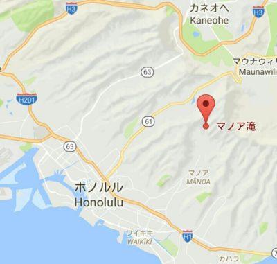 マノアの滝の地図
