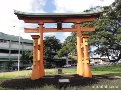 ハワイ厳島神社の鳥居