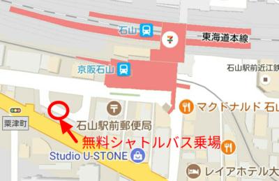 バスのターミナルの地図