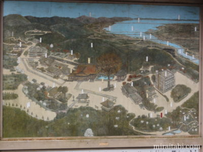岩間寺の地図