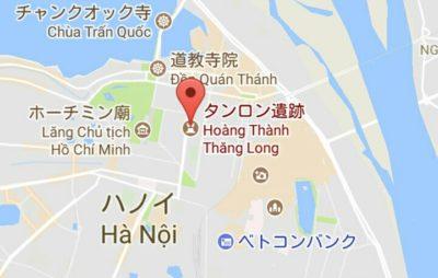 タンロン遺跡の地図