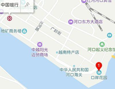 中国銀行の地図