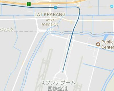 空港とラートクラバンの地図