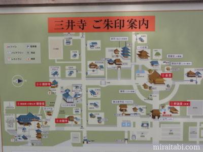 三井寺の簡易マップ