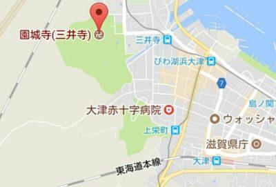 三井寺の地図