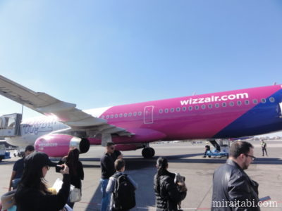 Wizz Airの飛行機
