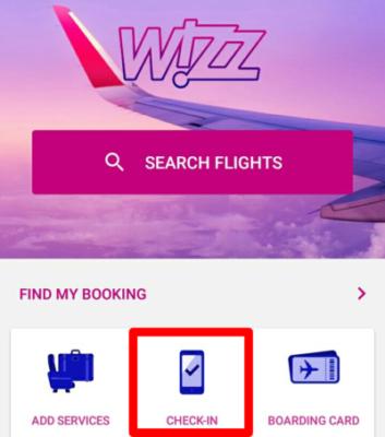 wizz airのwebチェックイン