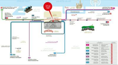 ドバイの地図