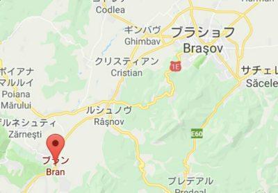 ブラン城の地図
