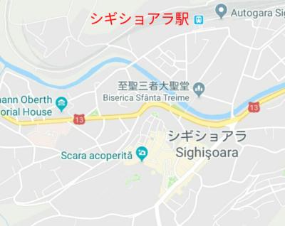 シギショアラの地図