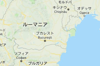 ルーマニア、モルドバ、ウクライナの地図